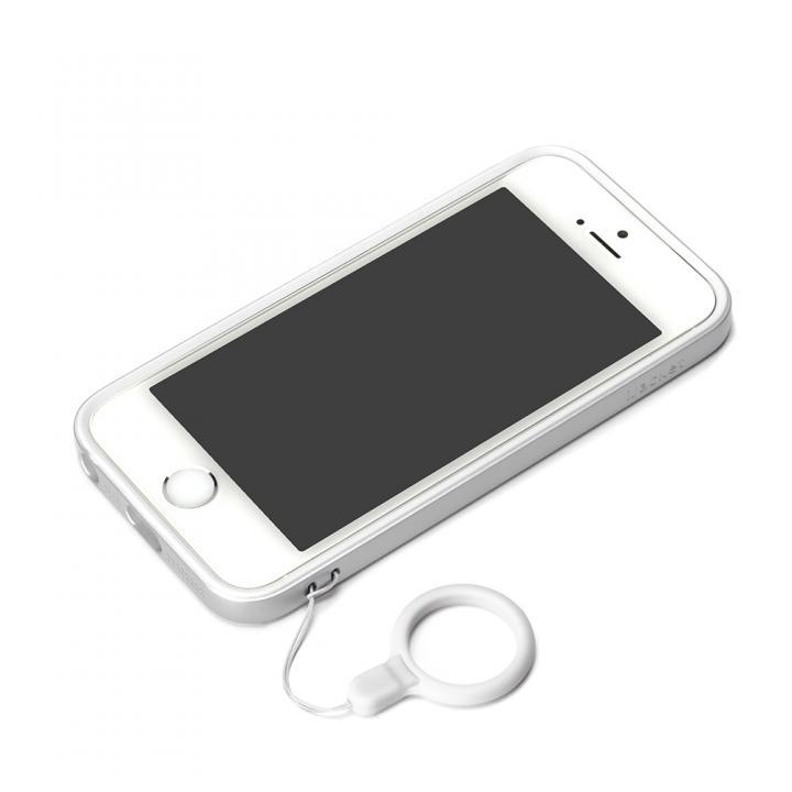 iPhone SE/5s/5 ケース ハイブリッド2層構造バンパー シルバー iPhone SE/5s/5バンパー_0