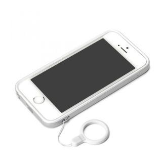 ハイブリッド2層構造バンパー シルバー iPhone SE/5s/5バンパー
