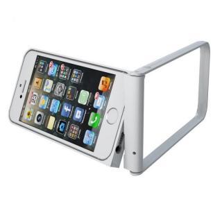 変幻自在で自立するケース フリッツフレーム シルバー iPhone SE/5s/5ケース