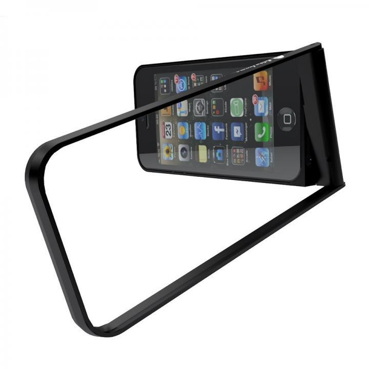 変幻自在で自立するケース フリッツフレーム ブラック iPhone SE/5s/5ケース