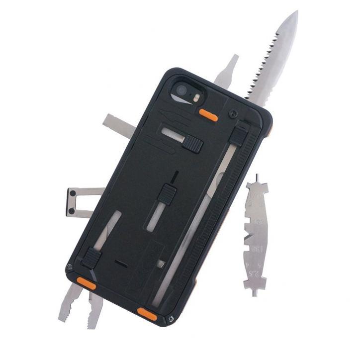【iPhone SE/5s/5ケース】工具内蔵ケース TaskOne(タスク・ワン) G3 ブラック-オレンジ iPhone SE/5s/5ケース_0