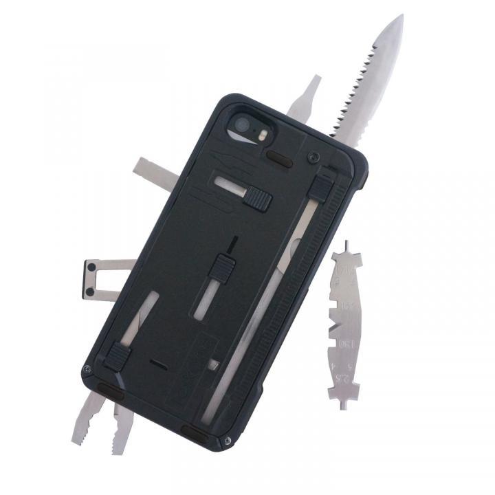 工具内蔵ケース TaskOne(タスク・ワン) G3 ブラック-ブラック iPhone SE/5s/5ケース