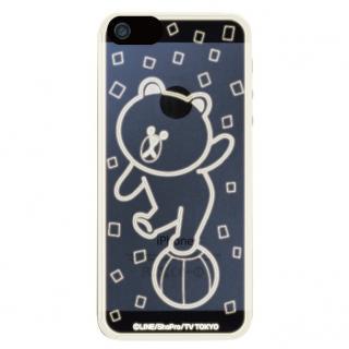 LINE フラッシュフィルムiPhone5(LINEブラウン玉乗り)