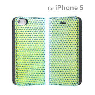 【あと1つ】iPhone5 iFace storm ダイアリーケース/(グリーン)