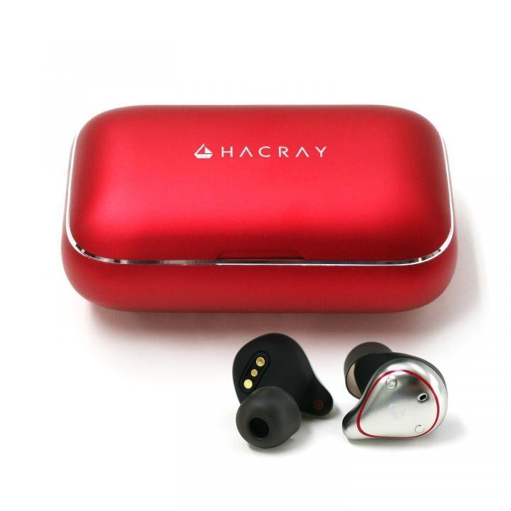 HACRAY W1 完全ワイヤレスイヤホン レッド_0