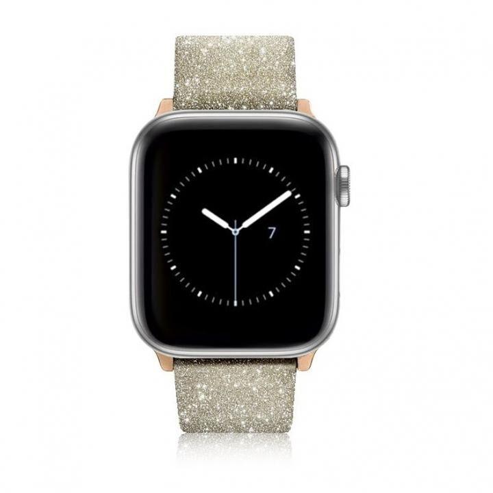 Casetify Glitter Apple Watch バンド ゴールド for 38mm/40mm_0