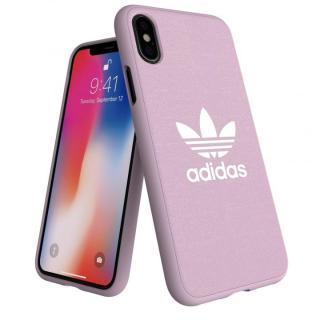 adidas AdicolOriginals Moulded Case クリアピンク iPhone XS/X