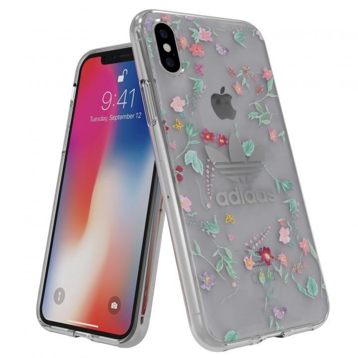 iPhone XS/X ケース adidas Originals Clear Case Graphic AOP カラフル iPhone XS/X_0