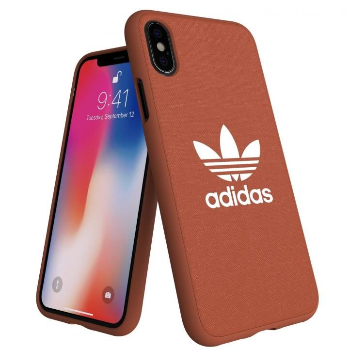 iPhone XS/X ケース adidas AdicolOriginals Moulded Case Shift オレンジ iPhone XS/X_0