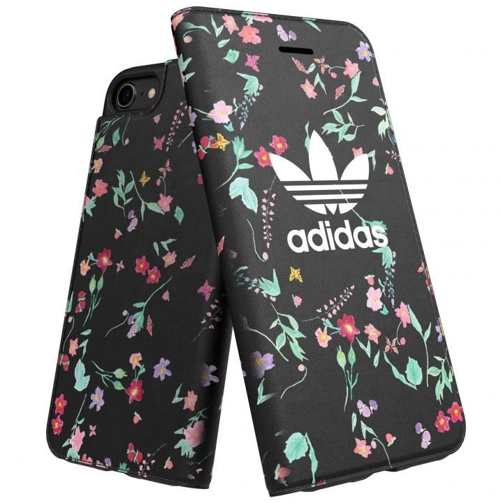 iPhone8/7 ケース adidas Originals Booklet Case Graphic AOP ブラック iPhone 8/7_0