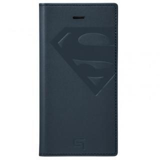 【iPhone SE/5s/5ケース】GRAMAS フルレザー手帳型ケース スーパーマン/ネイビー iPhone SE/5s/5_1
