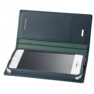 【iPhone SE/5s/5ケース】GRAMAS フルレザー手帳型ケース スーパーマン/ネイビー iPhone SE/5s/5_3