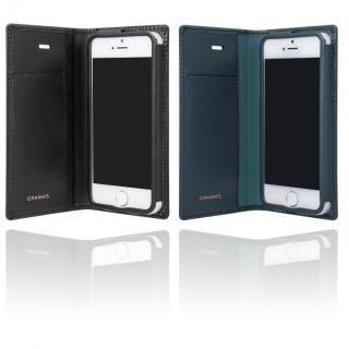 【iPhone SE/5s/5ケース】GRAMAS フルレザー手帳型ケース スーパーマン/ネイビー iPhone SE/5s/5_5