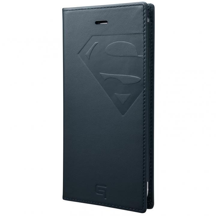 GRAMAS フルレザー手帳型ケース スーパーマン/ネイビー iPhone 6s Plus/6 Plus