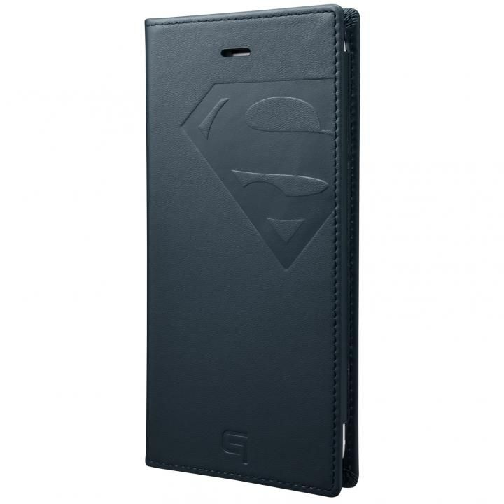 GRAMAS フルレザー手帳型ケース スーパーマン/ネイビー iPhone 8 Plus/7 Plus