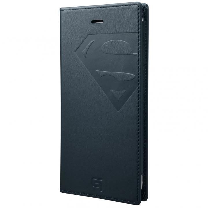 【iPhone8 Plus/7 Plusケース】GRAMAS フルレザー手帳型ケース スーパーマン/ネイビー iPhone 8 Plus/7 Plus_0
