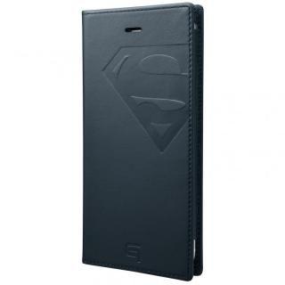 GRAMAS フルレザー手帳型ケース スーパーマン/ネイビー iPhone 7 Plus