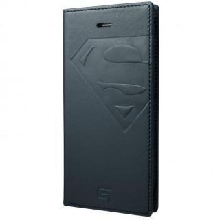 GRAMAS フルレザー手帳型ケース スーパーマン/ネイビー iPhone 7