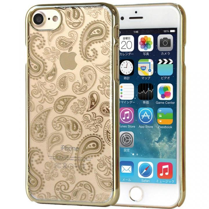 【iPhone7ケース】EDGEi ハードケース Paisley ゴールド iPhone 7_0