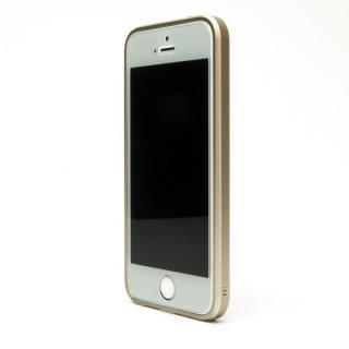 ネジなしバンパー GRAVITY GRACE シャンパンゴールド iPhone SE/5s/5バンパー