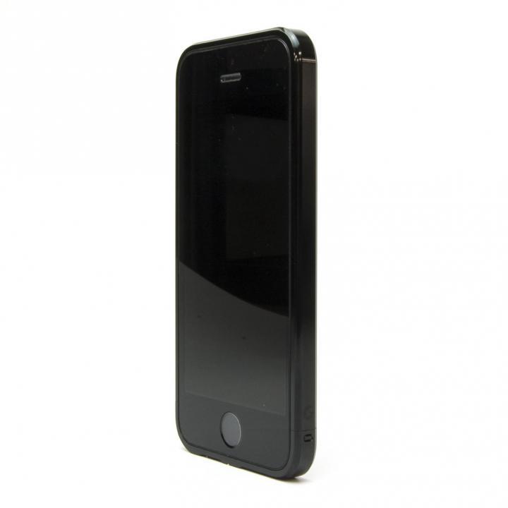 ネジなしバンパー GRAVITY GRACE ジェットブラック iPhone SE/5s/5バンパー