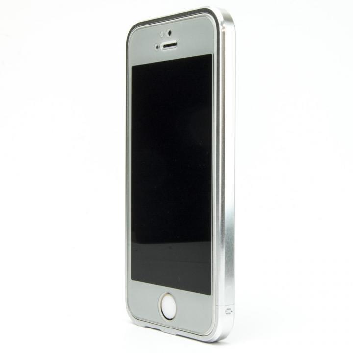 iPhone SE/5s/5 ケース ネジなしバンパー GRAVITY GRACE グレイズドシルバー iPhone SE/5s/5バンパー_0