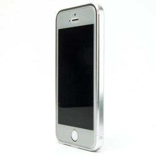 ネジなしバンパー GRAVITY GRACE グレイズドシルバー iPhone SE/5s/5バンパー
