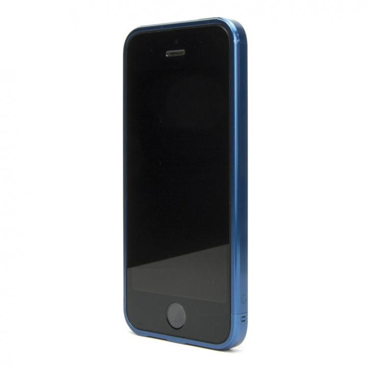 iPhone SE/5s/5 ケース ネジなしバンパー GRAVITY GRACE メタリックブルー iPhone SE/5s/5バンパー_0