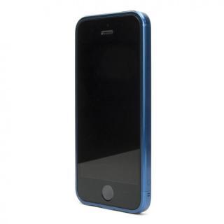 ネジなしバンパー GRAVITY GRACE メタリックブルー iPhone SE/5s/5バンパー