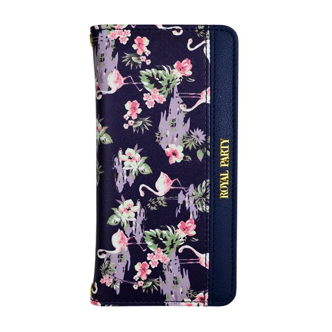 [2018バレンタイン特価][AppBank限定]ROYAL PARTY手帳型ケース フラミンゴ ネイビー iPhone 6s/6
