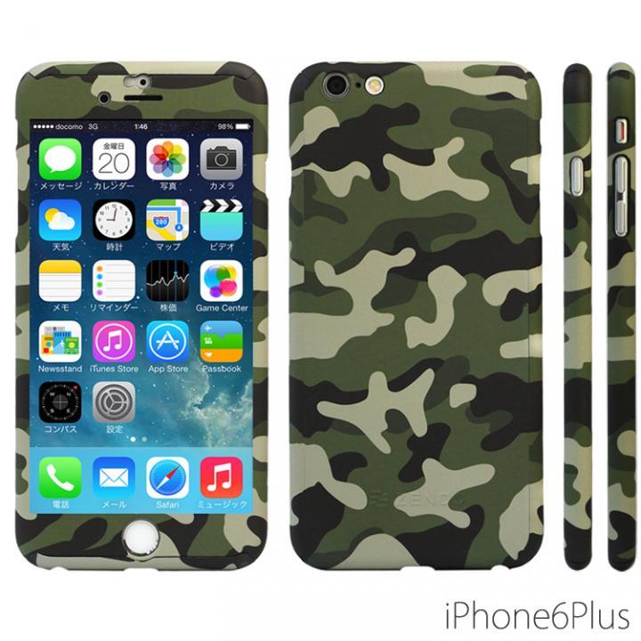 極薄ハードケース ZENDO Nano Skin カモフラージュ グリーン iPhone 6 Plus