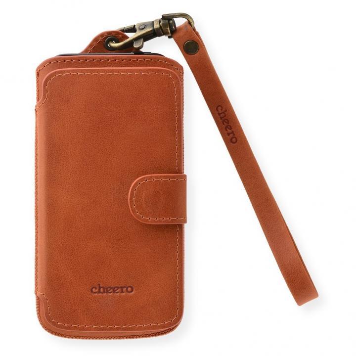 iPhone SE/5s/5 ケース cheero ポケット型トルコ製本牛レザーケース ヴィンテージ/ブラウン iPhone SE/5c/5s/5ケース_0