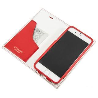 [数量限定モデル]GRAMAS フルレザー手帳型ケース トリコロールカラー ホワイト/レッド iPhone 6s/6