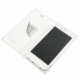 [数量限定モデル]GRAMAS フルレザー手帳型ケース トリコロールカラー ホワイト/ホワイト iPhone 6s/6