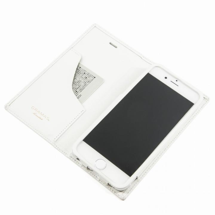 iPhone6s Plus/6 Plus ケース [数量限定モデル]GRAMASフルレザー手帳型ケーストリコロールカラーホワイト/ホワイトiPhone 6sPlus/6Plus_0