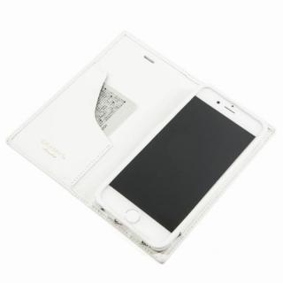 [数量限定モデル]GRAMAS フルレザー手帳型ケース トリコロールカラー ホワイト/ホワイト iPhone 6 Plus