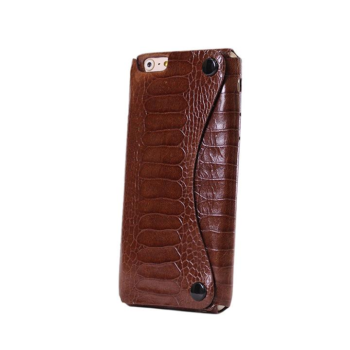 iPhone6 ケース mobakawa President Edition オーストレッグ型押し ブラウン iPhone 6_0