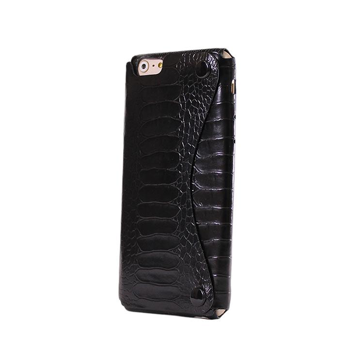 【iPhone6ケース】mobakawa President Edition オーストレッグ型押し ブラック iPhone 6_0