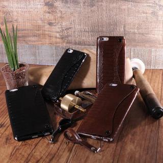 【iPhone6ケース】mobakawa President Edition オーストレッグ型押し ブラック iPhone 6_4