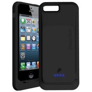 【iPhone SE/5s/5ケース】PowerSkin BATTERY CASE iPhone5 (黒)+ パススルーAudioケーブル付き