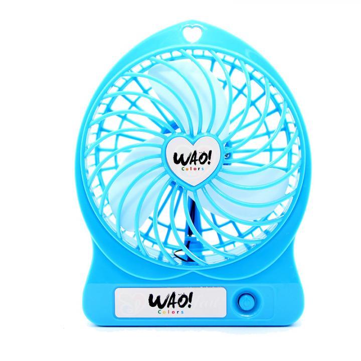 USB充電式扇風機 ブルー_0