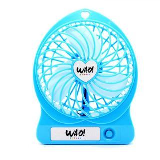 USB充電式扇風機 ブルー