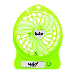 USB充電式扇風機 蛍光グリーン