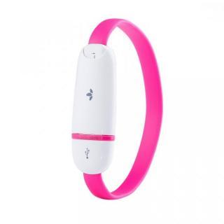 [20cm]リストバンドにして持ち運べる MiLi Lightning ケーブル ピンク