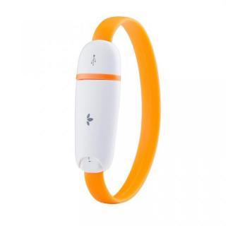 [20cm]リストバンドにして持ち運べる MiLi Lightning ケーブル オレンジ