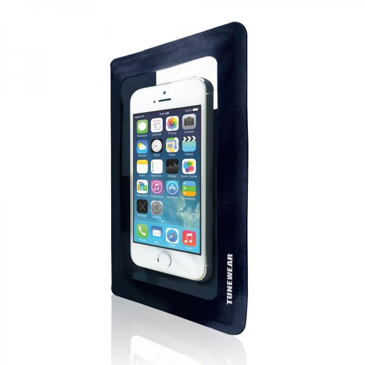 安心の3重ロック防水ケース IPX7 WATERWEAR LIGHT ダークブルー iPhone/Android