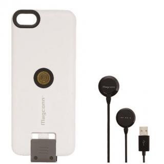 【iPhone SE/5s/5ケース】Magconn 置くだけ充電 iPhone SE/5s/5スライドケース+ケーブル(ブラック)セット