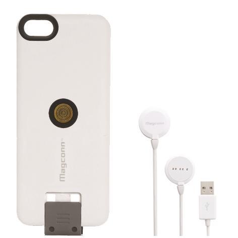 Magconn 置くだけ充電 iPhone 5s/5スライドケース+ケーブル(ホワイト)セット_0