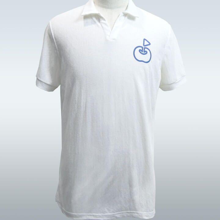 ringolf 公式ポロシャツ ワンポイント さらさら シロ M_0