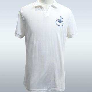 ringolf 公式ポロシャツ ワンポイント さらさら シロ M